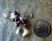 Garnet Loop Earrings