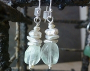 Mint Fluorite Earrings