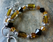Amber and Gold Bracelet