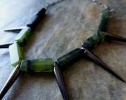 Jade Gunmetal Necklace
