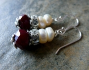 Facets and Pearls Earrings