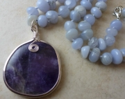 Amethyst Lace Necklace