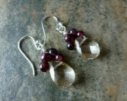 Garnet Loop Earrings