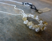 Citrine Circlet Necklace - on Sale - 25% off
