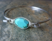 Framed Bangle - Blue