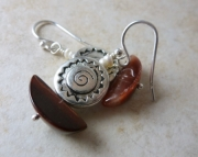 Saber Red Tiger Eye Earrings