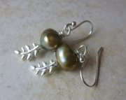 Pearled Fern Earrings