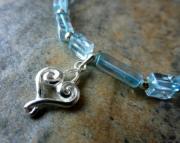 Aqua Heart Bracelet
