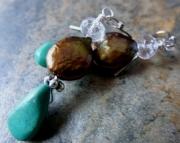 Copper Pearl Earrings