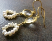 Pearl Frame Earrings
