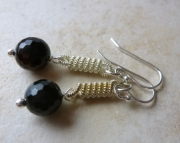 Onyx Spiral Earrings