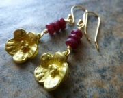 Ruby Floral Earrings