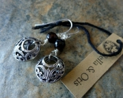 Filigree Agate Earrings