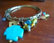 Bangle with charms