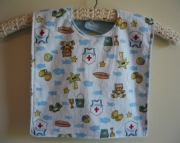 Bib for Baby or Toddler - Beach Bear print