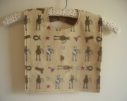 Bib for Baby or Toddler - Horses and Western print