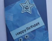 Blue with Stars - Birthday card