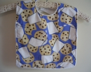 Bib for Baby or Toddler - Cookies and Milk