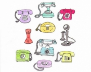 Phones Art Print
