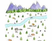 Tiny Campsite Print