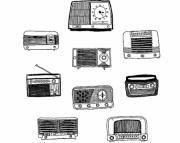 Vintage Radios Print