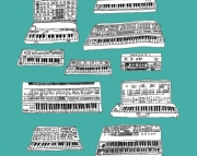 Synthesizers Art Print