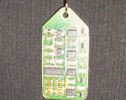 Circuit Board On A Guitar String Necklace