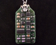 Circuit Board On A Copper Necklace