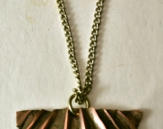 Copper pendant necklace