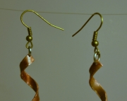 Twisted Copper Candelier Earrings