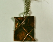 Copper Pendant On Metal Chain