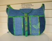 Butterfly Messenger Bag