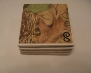 Monogrammed Coaster Set (4) -- Wedding Gift Rustic