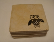 Owl Coasters Set of (4)