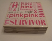 Breast Cancer Awareness Coasters Set (4)