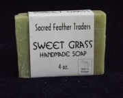 FOUR Bars of Sweet Grass Handmade Soap - 4 oz. bars