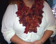 Womens Hand Crochet Lacy Scarf
