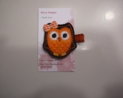 Felt Halloween Owl Clippie