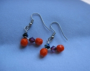 zig zag Halloween earrings