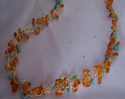 Crocheted Amber and Turquoise