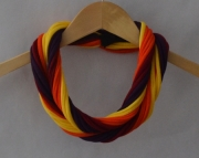Jersey T shirT Scarf in auTumn Leaves - Dark Red, Dark Purple, Orange, and Yellow