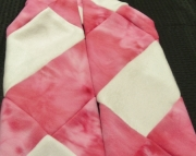 Pink and White striped Scarf