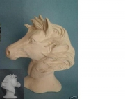 Stallion Horse Bust Read to paint ceramic bisque