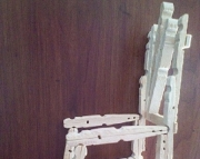 Hand Made Mini Wood Rocking Chair