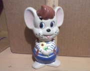 Mouse Bank Hand painted
