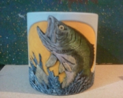 Large Mouth Bass Planter Mug