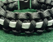 Thin Silver Line Corrections Correctional Officer Paracord Survival Bracelet