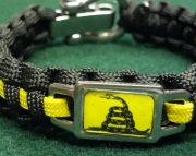 2nd Second Amendment Gadsden Flag Paracord Bracelet 2A Dont Tread on Me