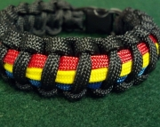 Thin Yellow Line Between Blue and Red Lines 911public Safety Dispatchers Paracord Bracelet