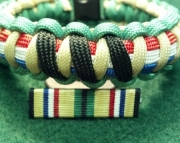 Desert Shield or Desert Storm Persian Gulf War Campaign Service Ribbon and Medal Bracelet